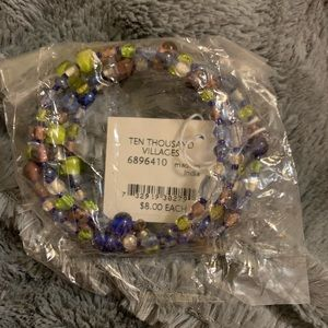 Ten Thousand Villages Glass Beaded Bracelet